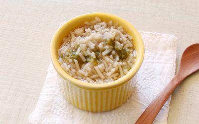 魚とあおさの味噌にゅう麺(調理時間:約4分)*初期から