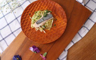 【ユーザー考案レシピ】春キャベツとお魚のシンプル蒸し *完了期から