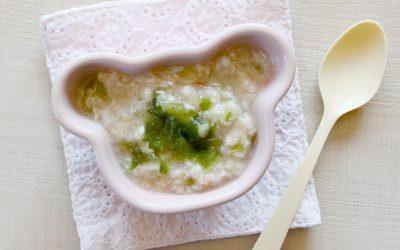 魚とあおさの和風オートミール粥(調理時間:約6分)*初期から