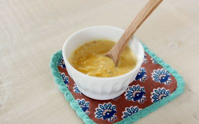 魚とかぼちゃのきな粉スープ(調理時間:約6分)*初期から