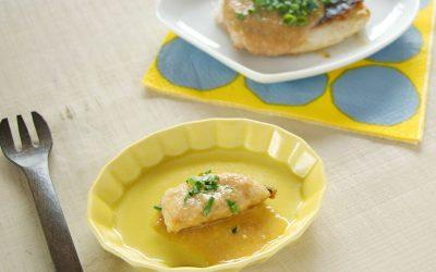 【取り分け離乳食】魚のネギ味噌黒酢ソースかけ(調理時間:約8分)*完了期から