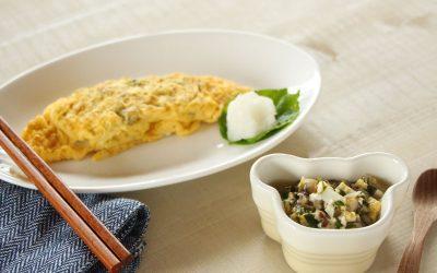 【取り分け離乳食】ニラ・しいたけ・卵を使った取り分けレシピ *後期から