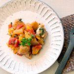 魚と牡蠣のチリソース炒め(調理時間:約8分)*幼児食から
