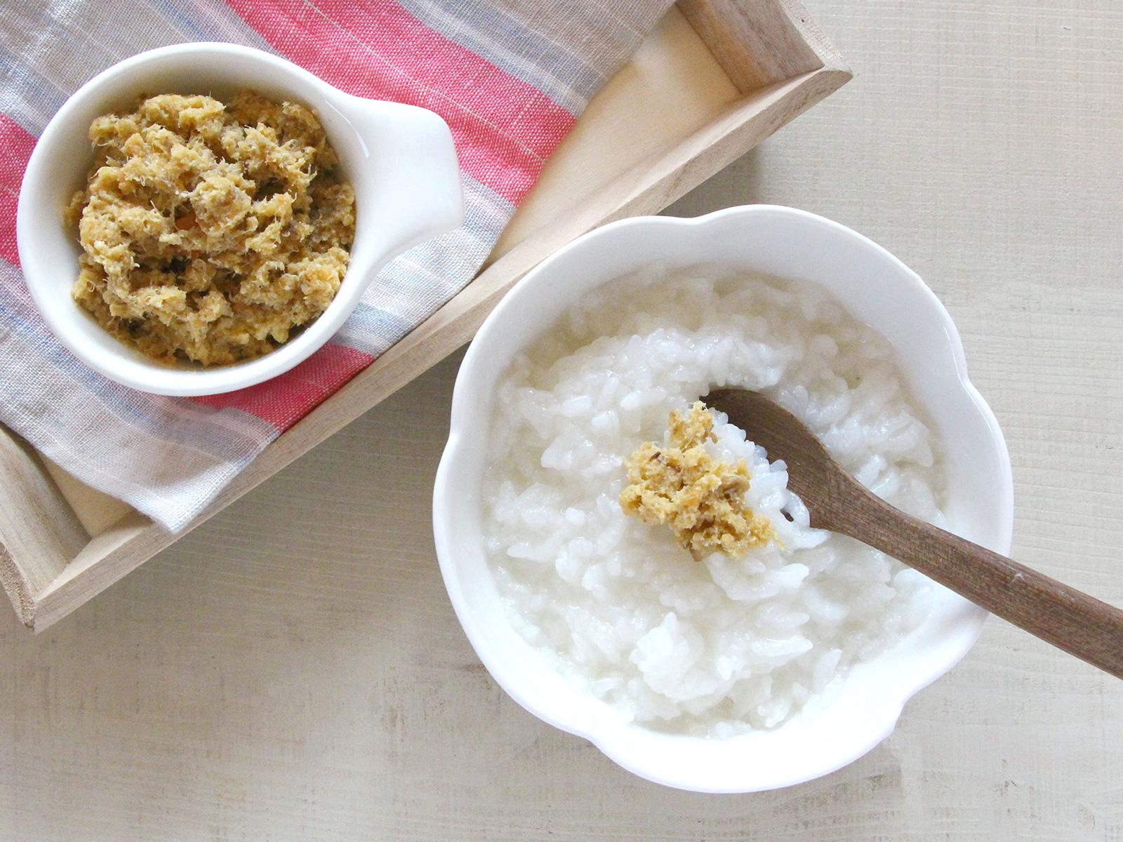 mogcook離乳食レシピ 魚と高野豆腐のしっとりふりかけ