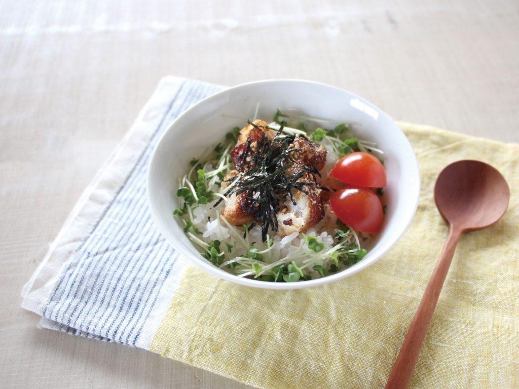 mogcookのお魚幼児食レシピ 魚の照り焼き丼