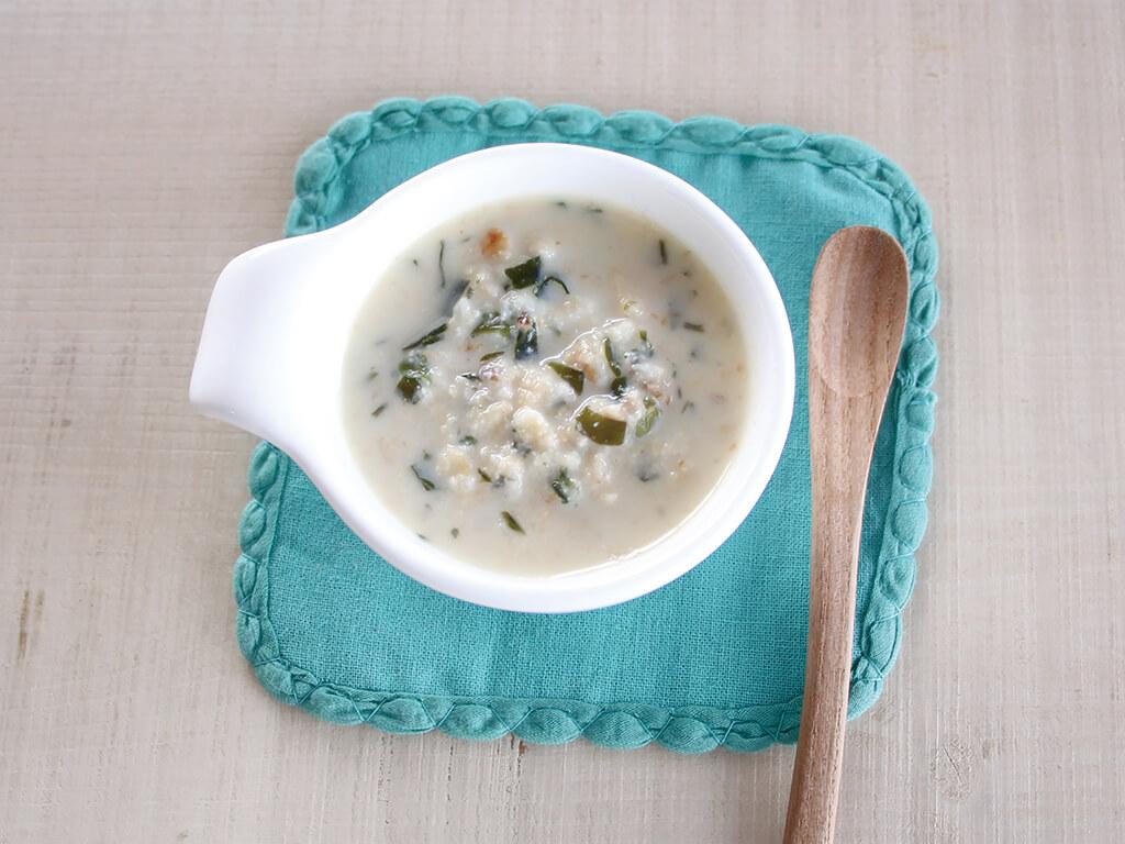 魚のみぞれ味噌スープ (調理時間:約8分)対象:離乳食中期から