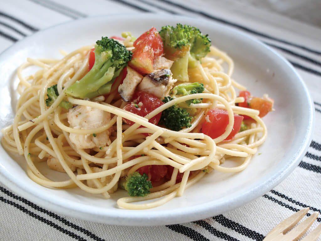 mogcookのお魚離乳食レシピ 魚とトマトの冷製パスタ