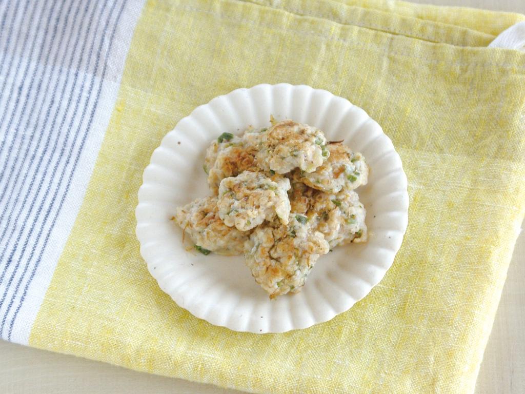 mogcookのお魚離乳食レシピ 魚とオートミールのオクラ焼き