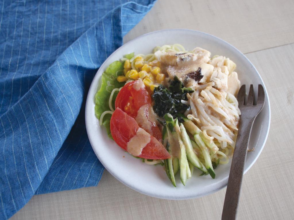 mogcookのお魚離乳食レシピ 魚とたっぷり野菜の冷やし中華