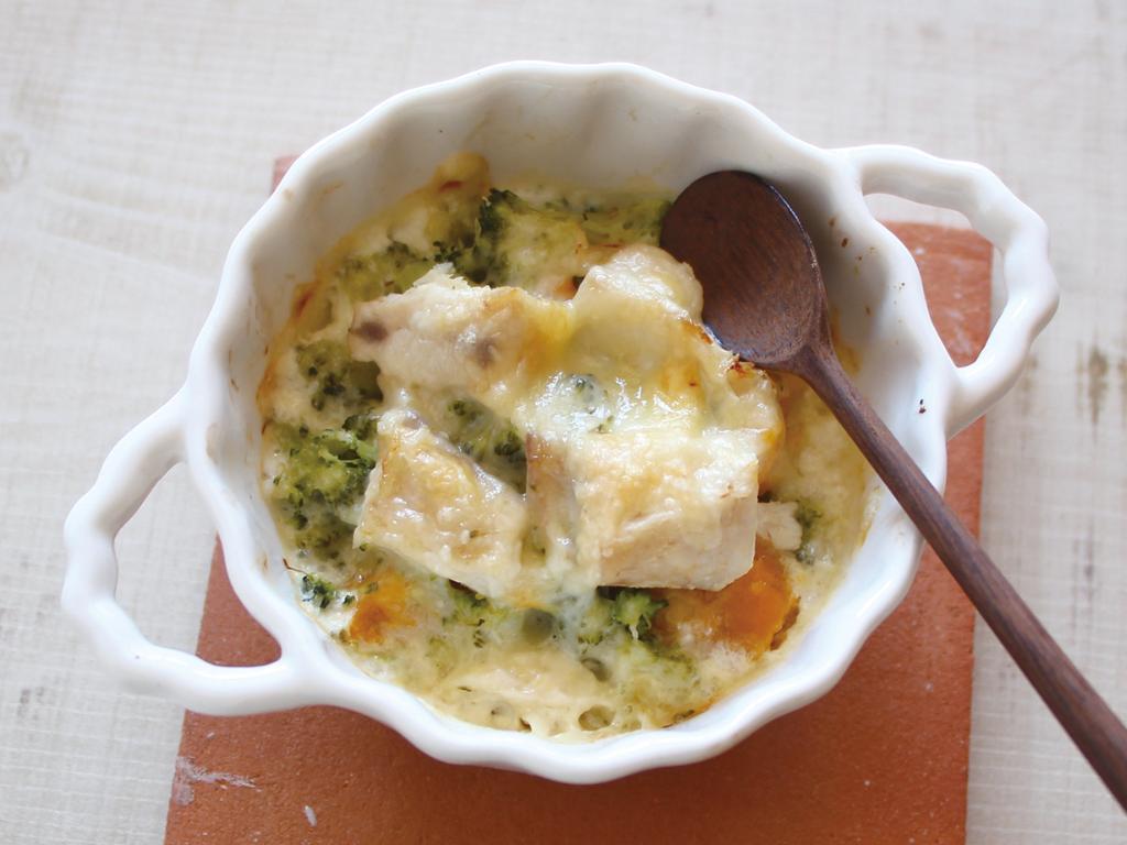 mogcookのお魚離乳食レシピ 魚とブロッコリーのチーズかぼちゃ
