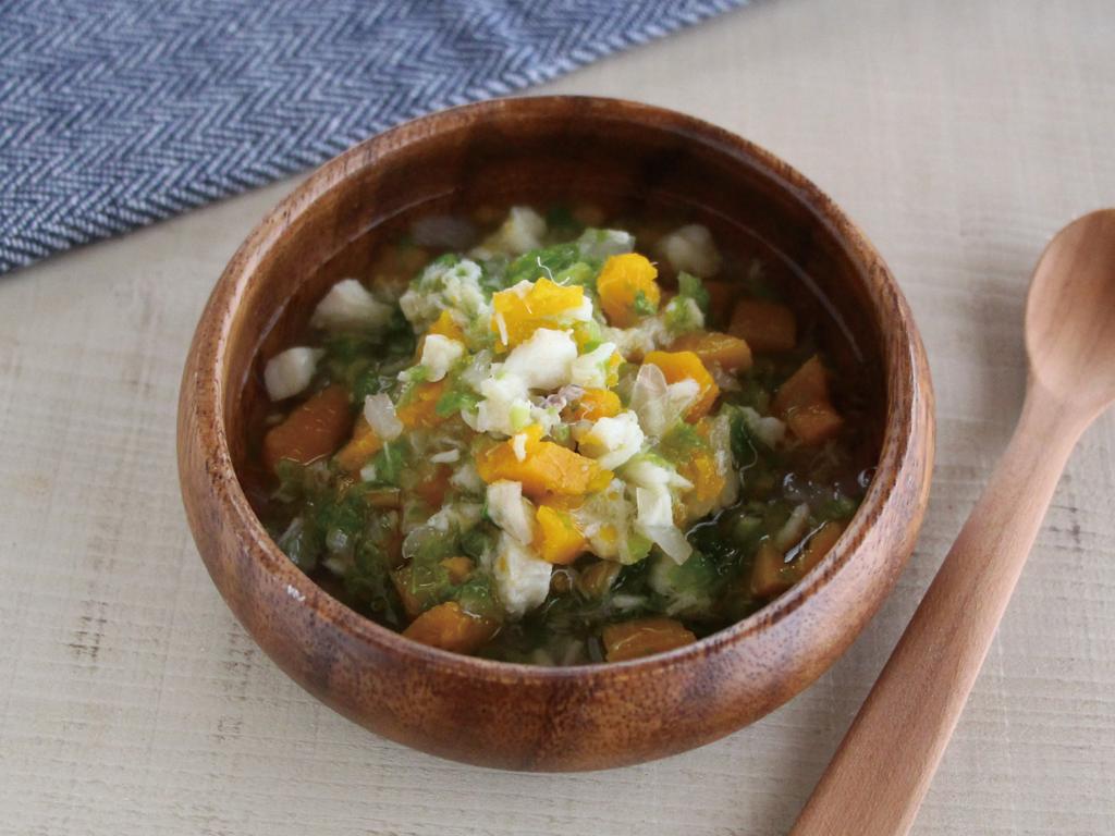 mogcookのお魚離乳食レシピ 魚と刻み野菜のだし煮