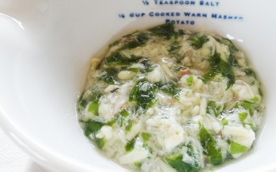 魚とワカメの柔らか煮 (調理時間:約10分)対象:後期から