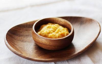 かぼちゃと魚のヨーグルトあえ (調理時間:約5分) 対象:中期から