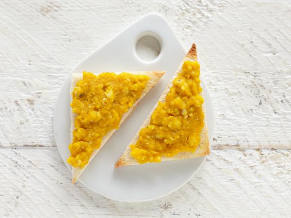 魚とかぼちゃのクリームトースト(調理時間:約5分)対象:完了期から