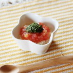トマトと魚のふわふわ(調理時間:約7分)対象:初期から