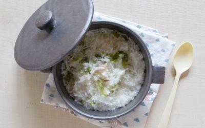 あおさのりと鯛のにゅう麺(調理時間:約5分)*中期から