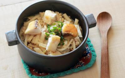 魚の豆乳カレーうどん(調理時間:約10分)*完了期から