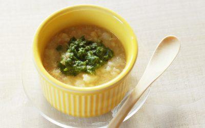 魚とじゃが芋の小松菜煮(調理時間:約7分)*初期から