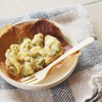 魚のクリームコーンチーズ焼き(調理時間:約10分)*幼児食