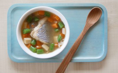 魚と高野豆腐の含め煮(調理時間:約10分)*後期から
