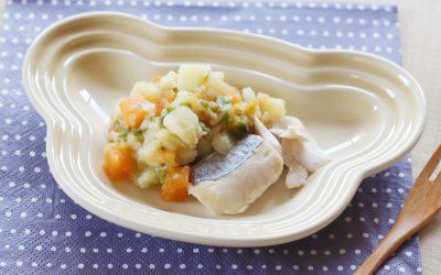 魚のじゃがいも香味ソースかけ(調理時間:約10分)*後期から