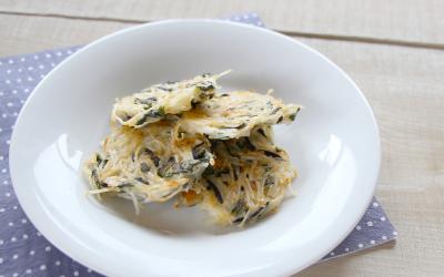 魚と素麺のお焼き風(調理時間:約6分)*完了期から