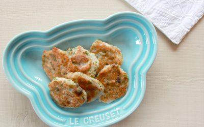 魚と高野豆腐の落とし焼き(調理時間:約10分)*完了期から