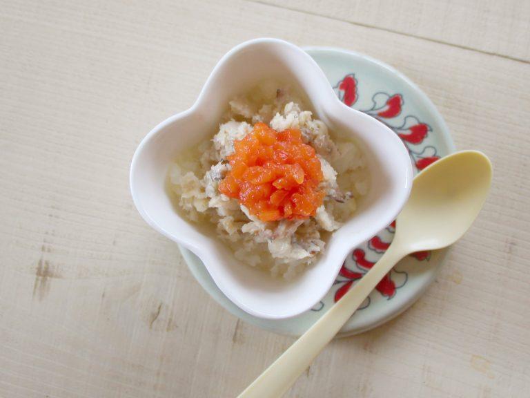 蒸し魚の野菜のせ(調理時間:約10分)*初期から