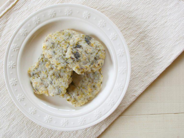魚とごぼうの米粉お焼き(調理時間:約10分)*完了期から