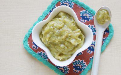 魚とほうれん草の米粉粥(調理時間:約3分)*初期から