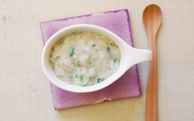 魚のかぶ雑炊(調理時間:約5分)*初期から