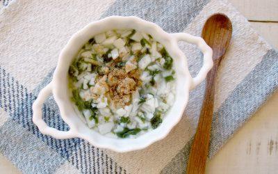 魚と青菜のおかかうどん(調理時間:約8分)*初期から