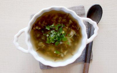 魚ともずくのスープ(調理時間:約4分)*後期から
