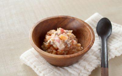 魚と人参のトマトヨーグルトサラダ(調理時間:約7分)*中期から