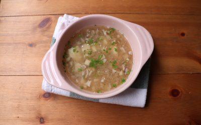 【ユーザー考案レシピ】舞茸出汁のすり流しスープ *後期から