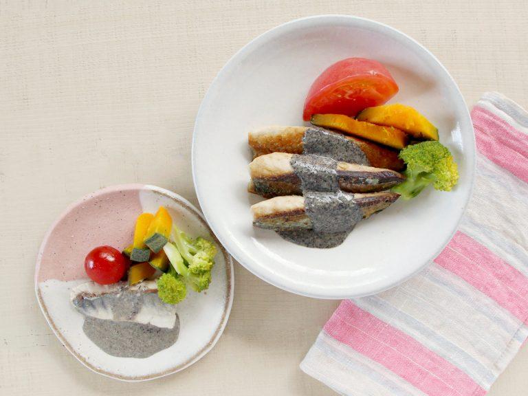 【取り分け離乳食】魚の黒ごまソースかけ(調理時間:約15分)*完了期から